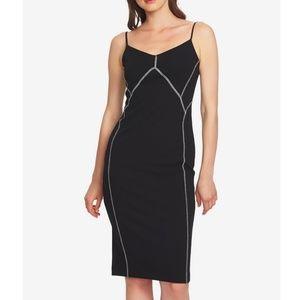 1. State Contrast-Stitch Slip Dress
